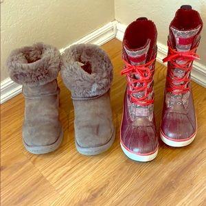 2 pairs of Uggs Ugg sz 7 waterproof & sheepskin